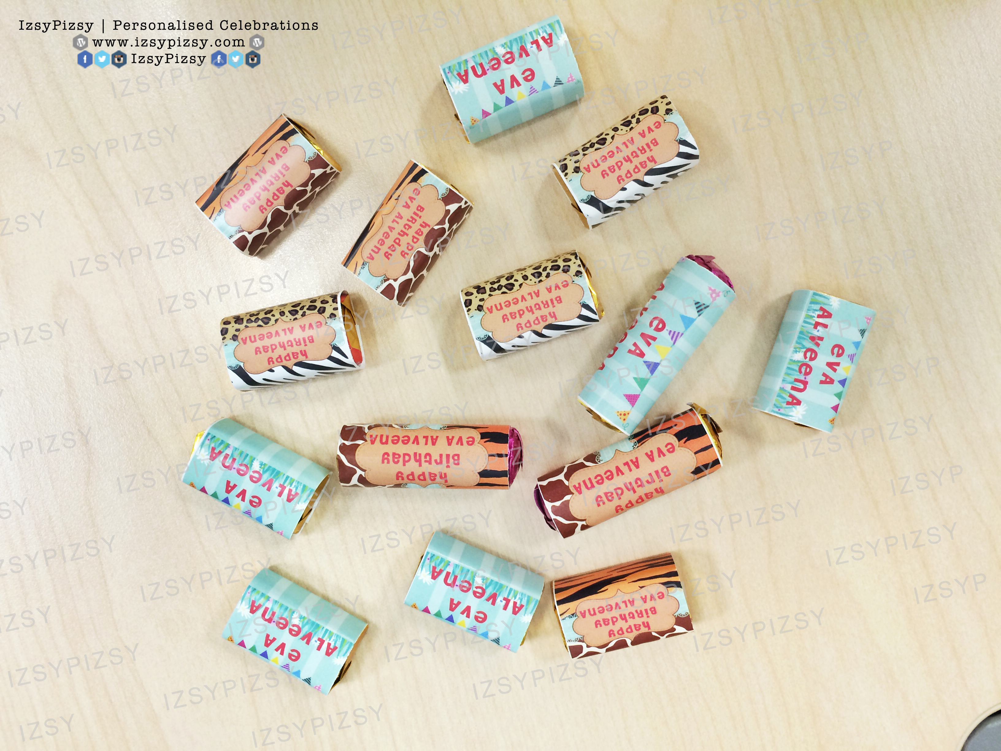 chocolate mentos printable wrapper safari birthday malaysia