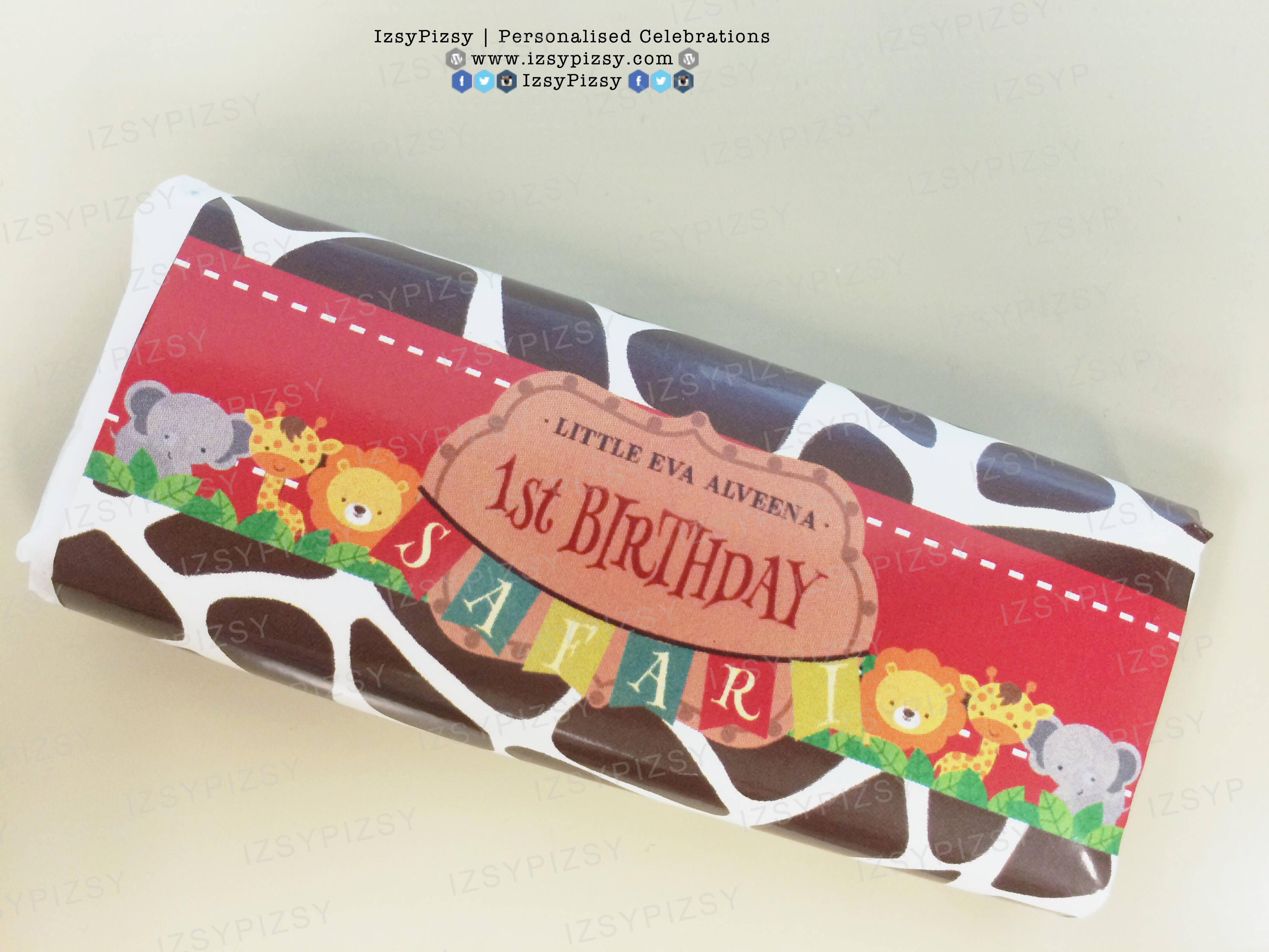 chocolate wrapper safari printable malaysia