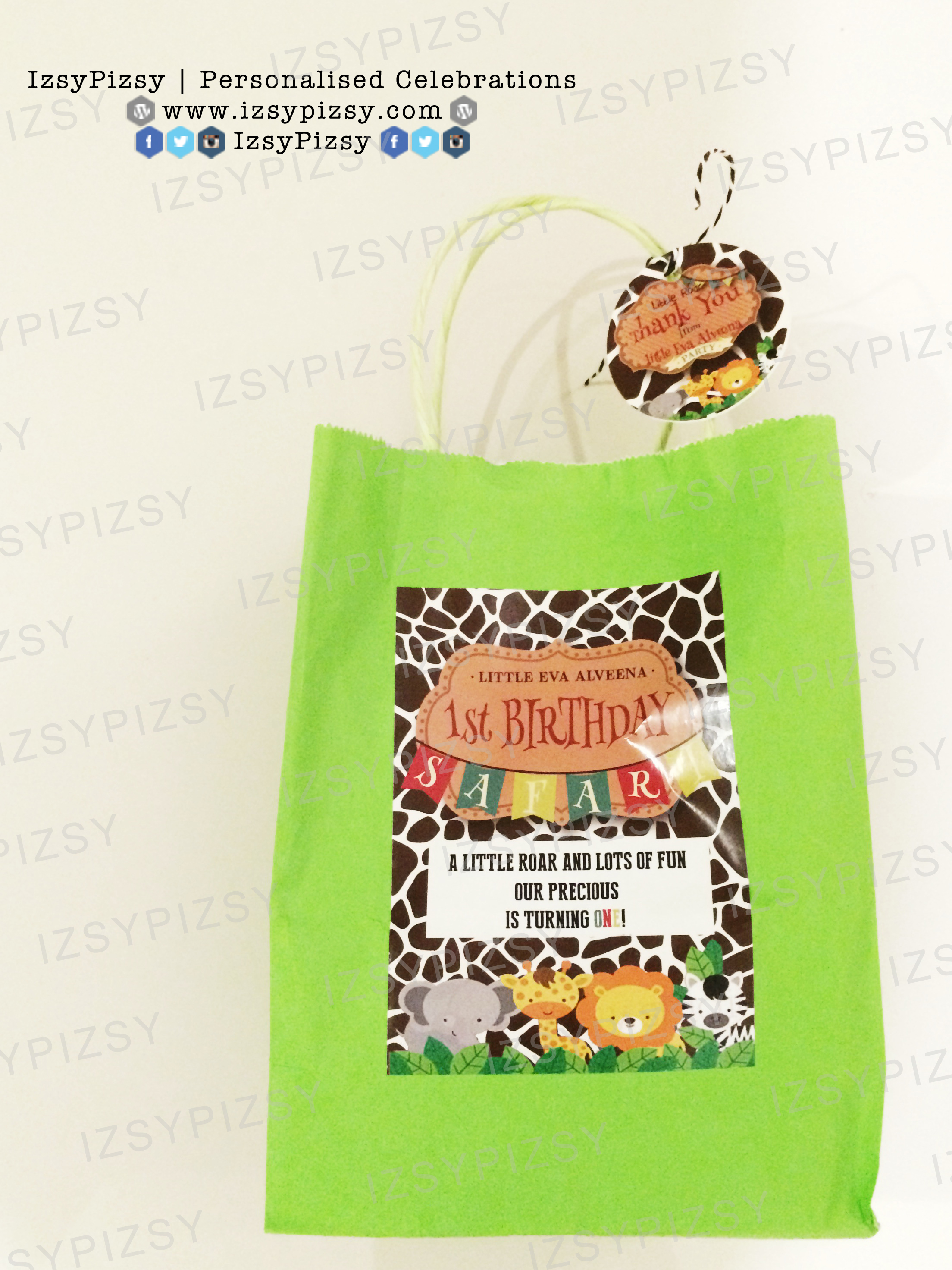 safari goodie bag sticker printable malaysia