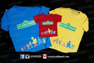 tshirt printing sesame street party malaysia