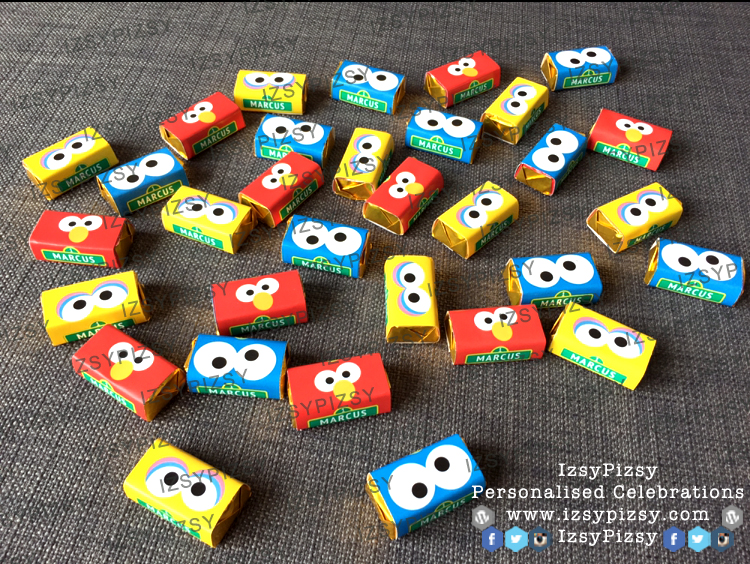 sesame-street-elmo-cookie-monster-big-bird-theme-mini-chocolate-bar-kitkat-doorgift-birthday-party-wedding-engagement-kahwin-tunang-party-planner-malaysia-murah