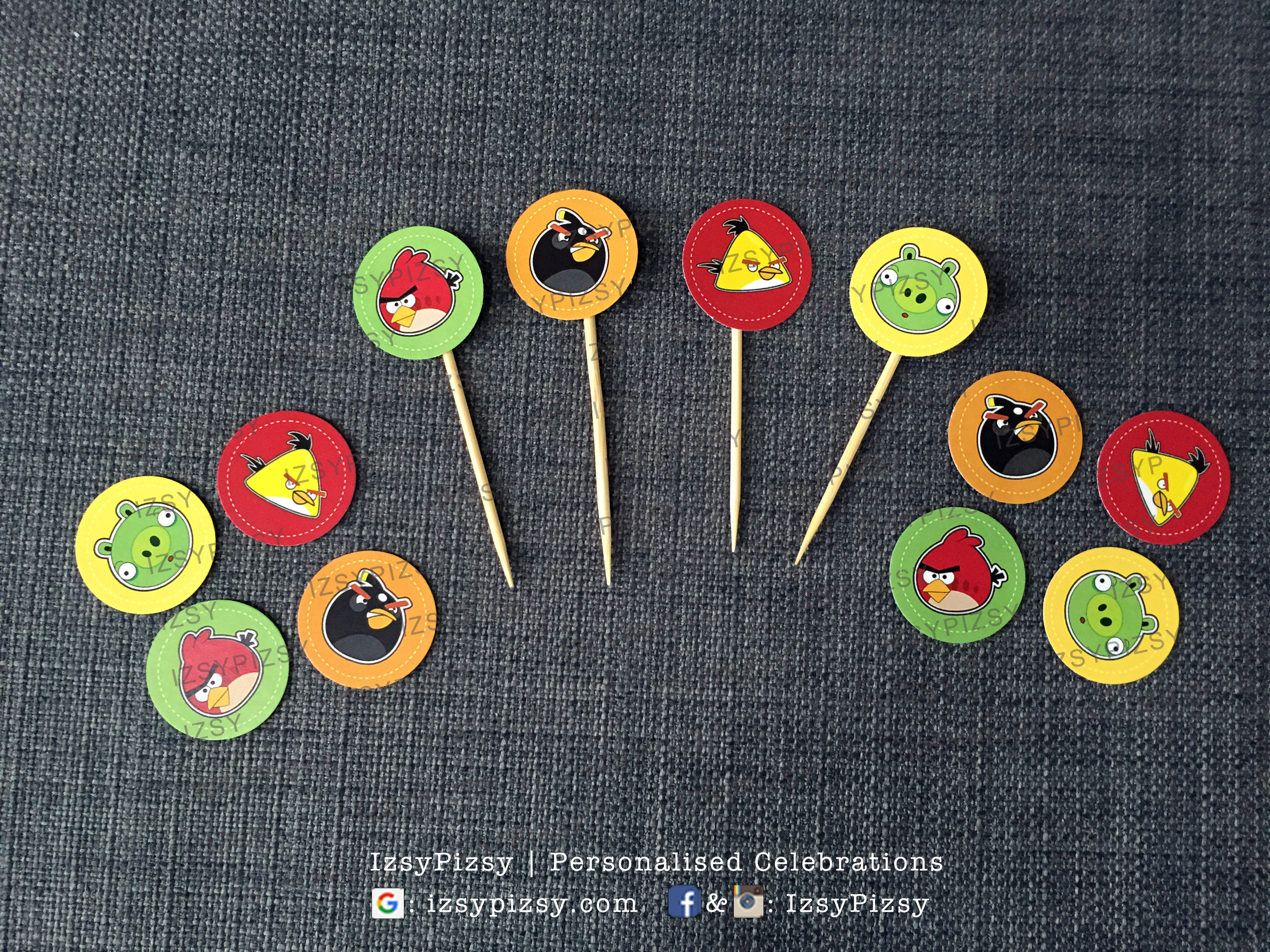angry-birds-cupcake-topper-party-printables-theme-pig-slingshot-gamer-planner-decorator-supplies-ideas-malaysia-cheap-murah