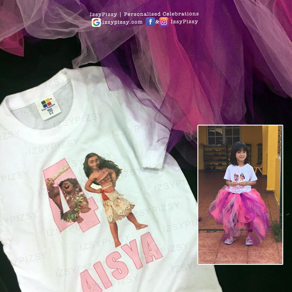 moana birthday party theme ideas supplies decorations tshirt printing tutu skirt printables malaysia murah