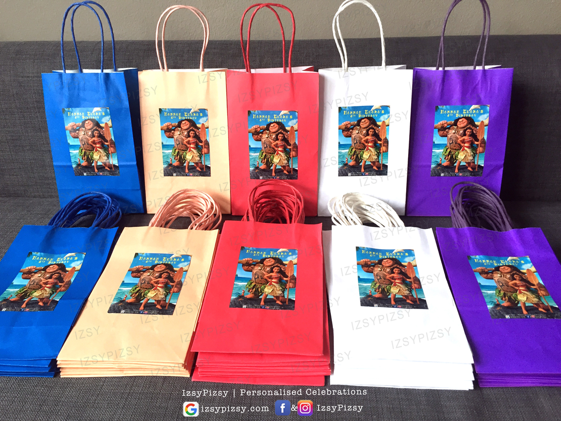 moana goodie bag paperbag favour doorgift birthday theme ideas supplies decorations malaysia printables murah small