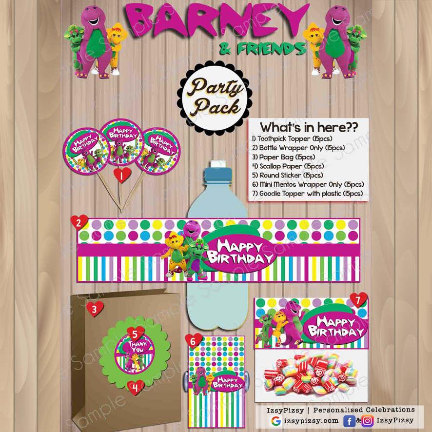 Barney Friends Party Pack Izsypizsy
