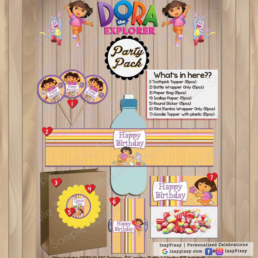 Dora The Explorer Party Pack IzsyPizsy