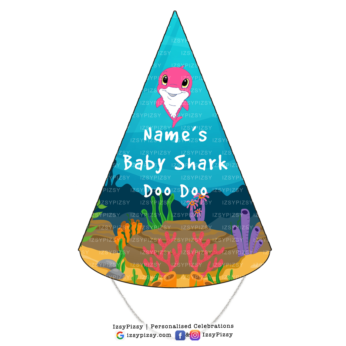 Baby Shark Doo Party Hats