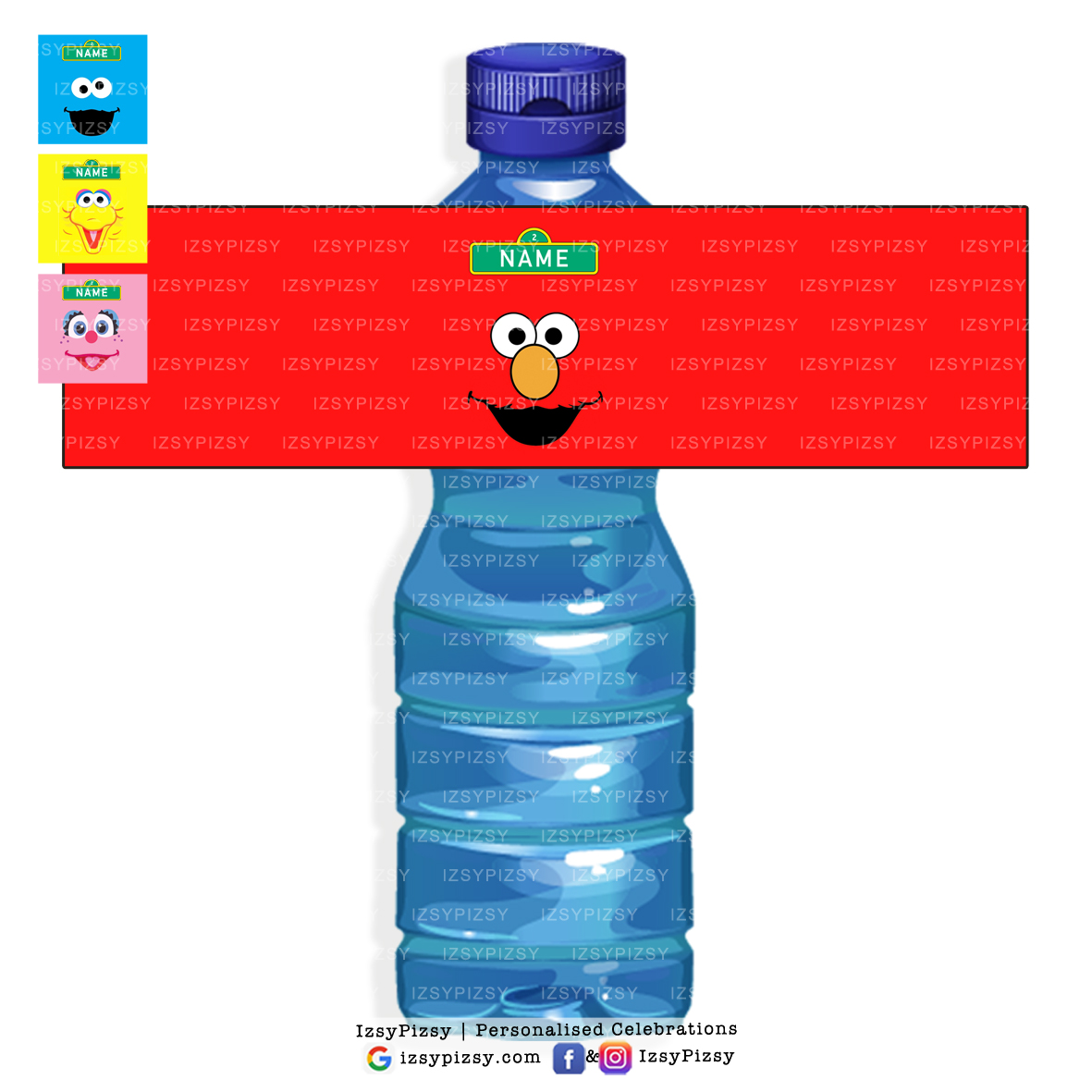 Personalized Sesame Street Abby Cadabby Water Bottle