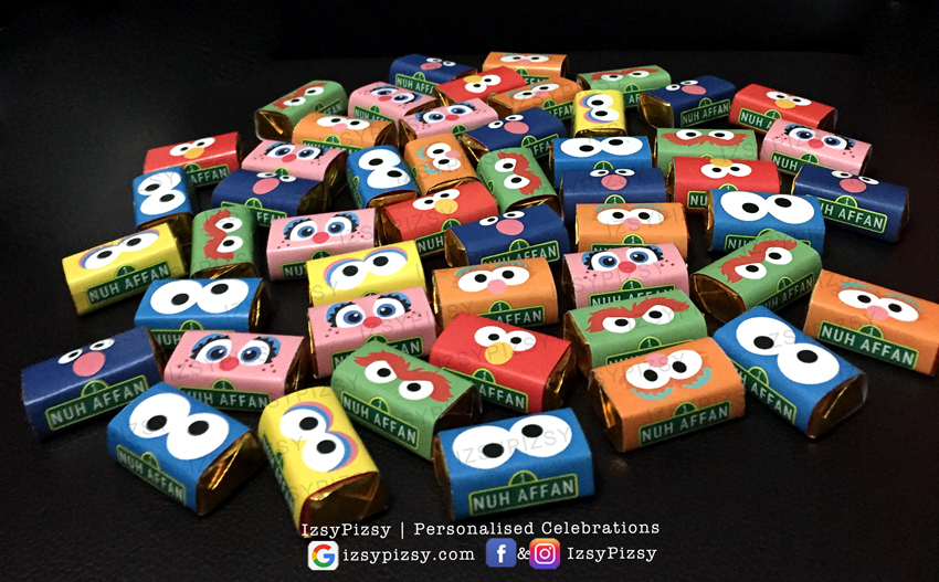 sesame street elmo cookie monster big bird theme birthday party bert ernie the count oscar grouch kids toys movie hat invitation supplies chocolate wrapper printables malaysia