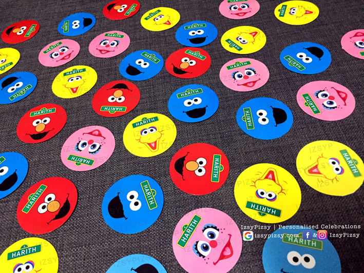 sesame street elmo cookie monster big bird theme birthday party bert ernie the count oscar grouch kids toys movie sticker blow out invitation supplies printables malaysia