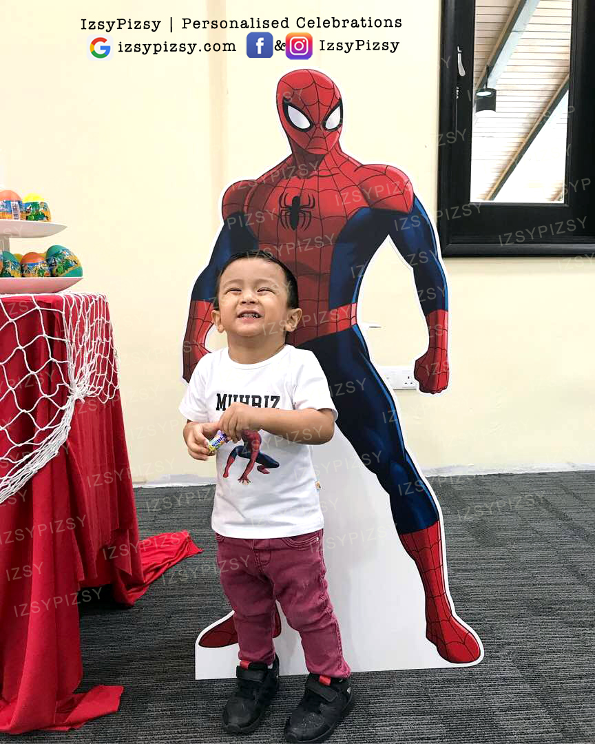 spiderman standee foamboard lifesize rental sewa cheap murah malaysia kids birthday party ideas decorations