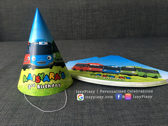 tayo the little bus personalised customised printed Rogi Gani Lani stickers theme kids birthday party supplies decorations ideas bags invitations favors hat balloons toys malaysia