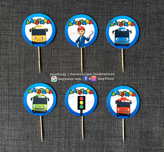 tayo the little bus video characters rogi lani gani personalised customised printed stickers theme kids birthday party supplies decorations ideas bags invitations favors hat balloons toys malaysia