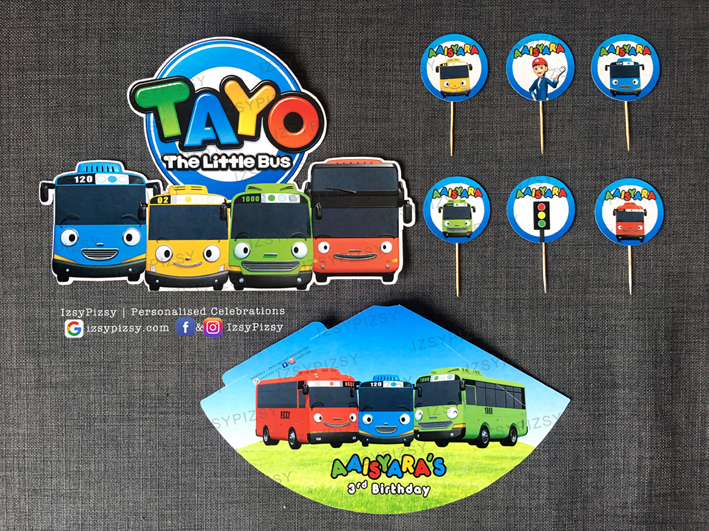 tayo the little bus video personalised customised printed banner backdrop standee stickers theme kids birthday party supplies decorations ideas bags invitations favors hat balloons toys malaysia