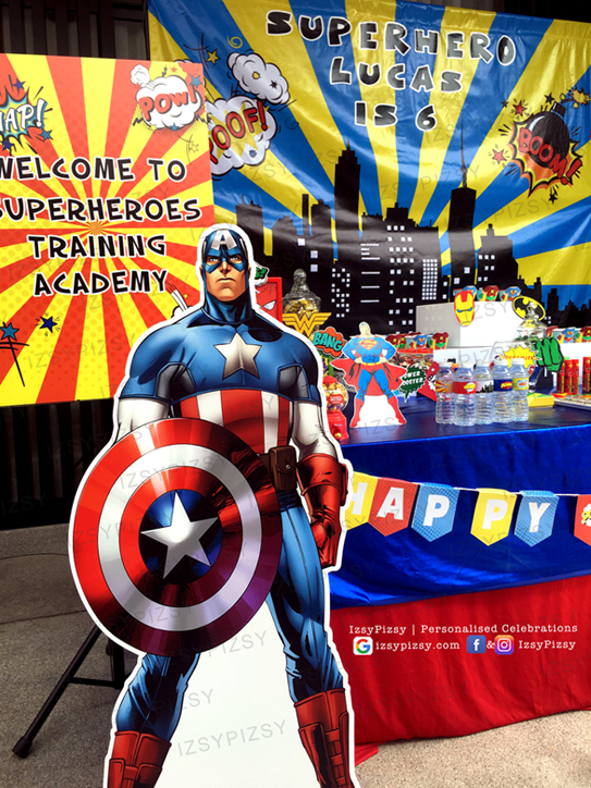 superhero dc marvel costume game kids birthday party ideas decorations invitations favor supplies batman superman captain america avengers wonderwoman malaysia