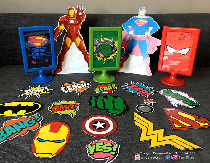 superhero dc marvel costume game kids birthday party ideas decorations invitations favor supplies batman superman spiderman wonderwoman