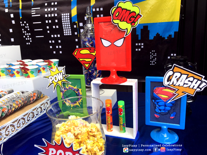 superhero dc marvel costume game kids birthday party ideas decorations invitations favor supplies standee gum dispenser batman superman spiderman wonderwoman ikea frame malaysia