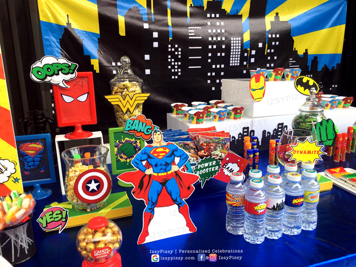 superhero dc marvel costume game kids birthday party ideas decorations invitations favor supplies standee gum dispenser batman superman wonderwoman malaysia