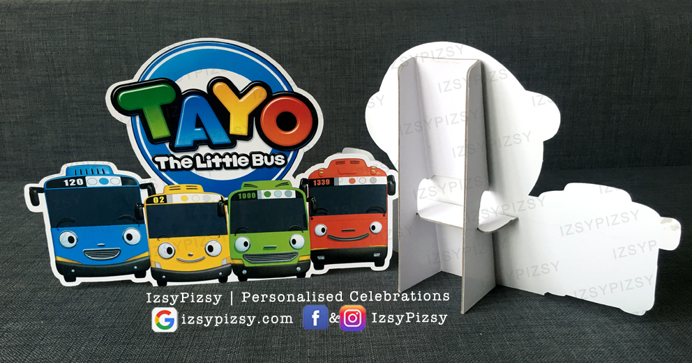 tayo the little bus video characters rogi lani gani personalised customised printed foamboard standee stickers theme kids birthday party supplies decorations ideas toys malaysia
