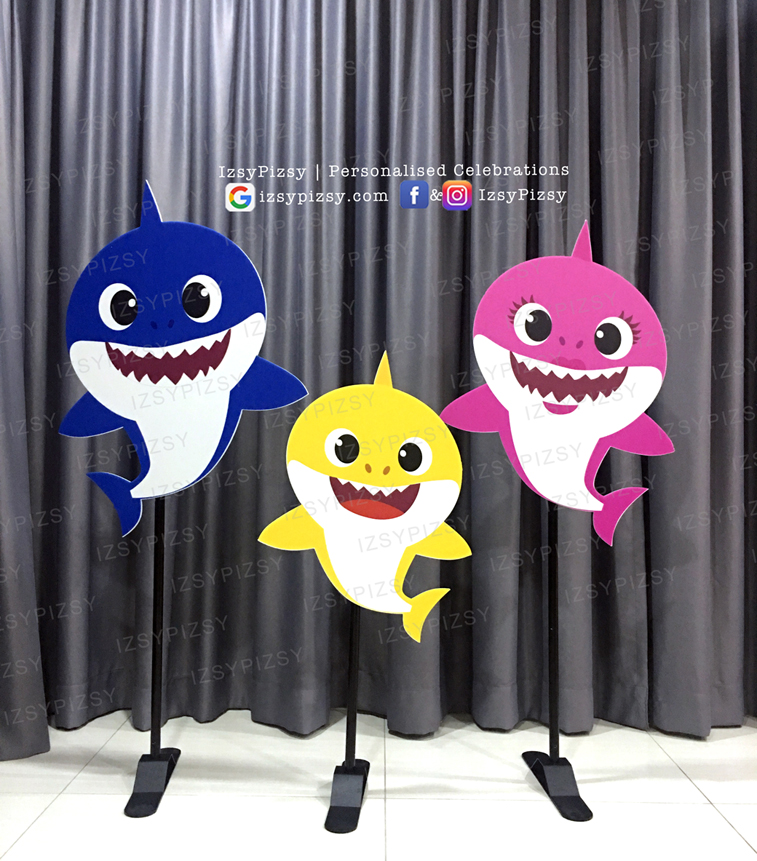 baby shark theme birthday party decorations props standee life size cut out idea supply malaysia kl