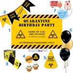 Quarantine Covid Birthday Party Decoration Props
